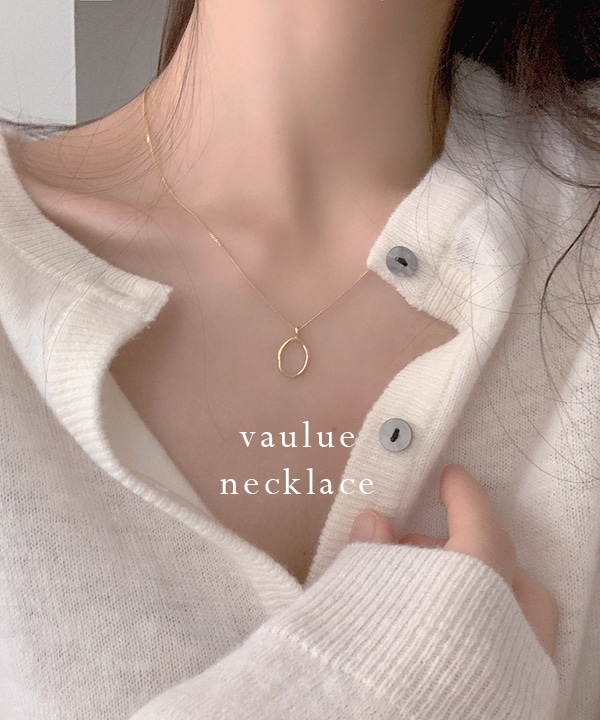 [인스타문의폭주] vaulue necklace (2color)